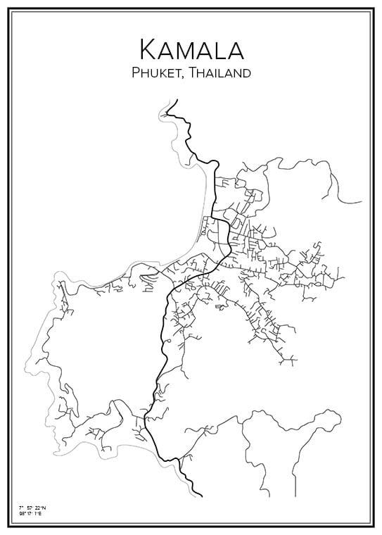 Stadskarta över Kamala