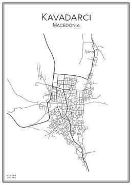 Stadskarta över Kavadarci