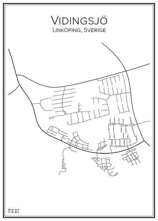 Stadskarta över Vidingsjö