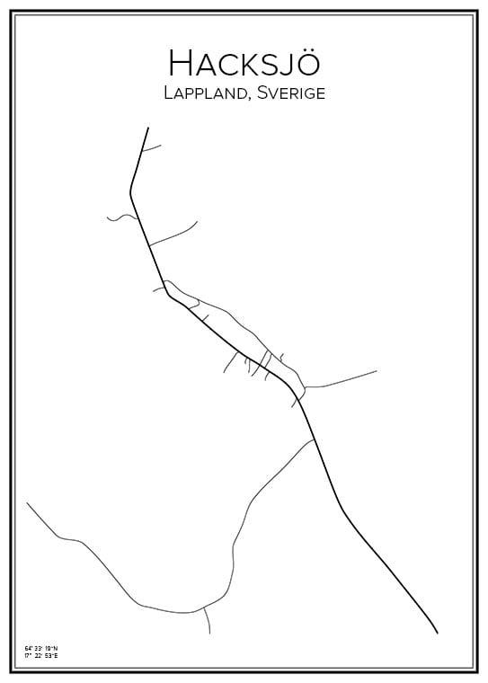 Stadskarta över Hacksjö