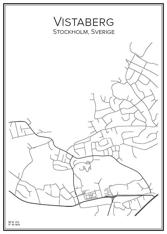 Stadskarta över Vistaberg