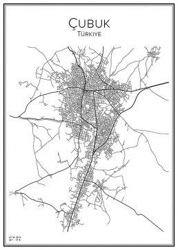 Stadskarta över Çubuk